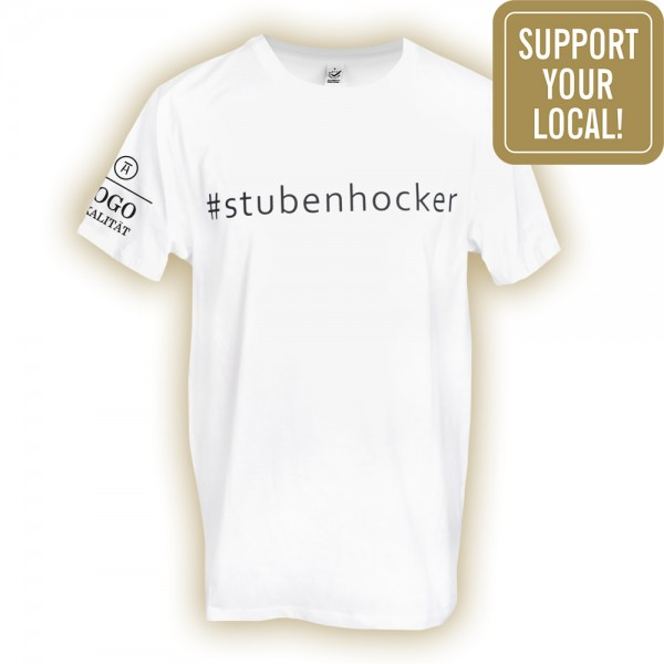 #stubenhocker T-Shirt Kinder, vorne (Support your local)
