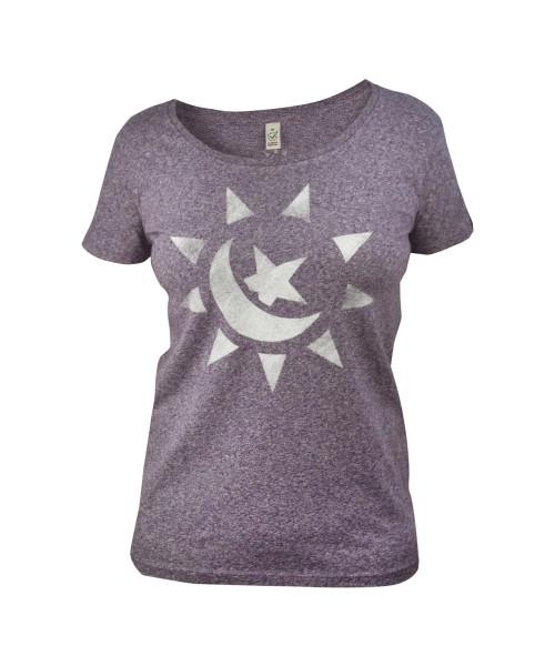 Sonnemondstern Frauen T-Shirt, vorne
