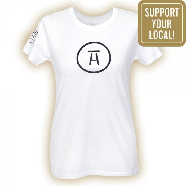 #stubenhocker T-Shirt Frauen Symbol, vorne (Support your local)